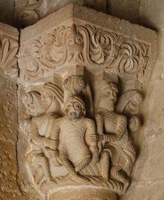 Capitel de la Puerta de las Vírgenes - Claustro Bajo de Santo Domingo de Silos