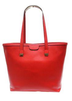 40c75c182b6d7 Red Coccinelle Medium Shopper in Saffiano Leather