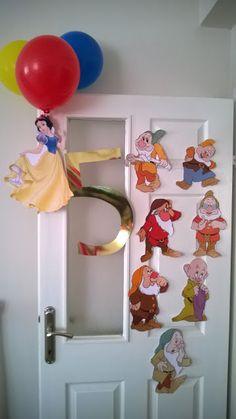 Pamuk Prenses Doğum Günü Süslerimiz/ Snow White Party Decorations