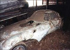 Cheetah drag car rotting in a barn
