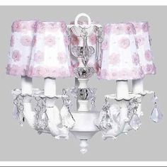 5-Arm Stacked Glass Ball Chandelier with Petal Flower