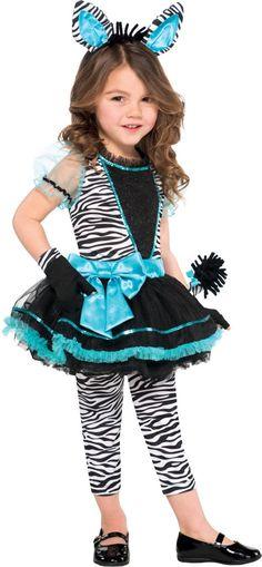 Girls Precious Zebra Costume - Party City
