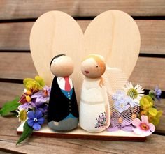 NEW Heart Stand for your Custom Wooden Bride by ProverbialDaisies, £8.00