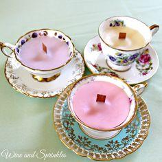 D.I.Y. Wood Wick Teacup Candles — Wine & Sprinkles