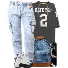A fashion look from August 2014 featuring black t shirt, jogger pants and retro shoes. Browse and shop related looks.