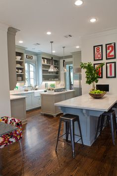 Grey Kitchen Cabinets Design Ideas, Pictures, Remodel, and Decor - page 20
