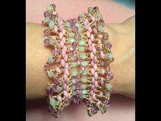 Spring Ruffle Bracelet ~ Seed Bead Tutorials