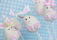 Cake Pops conejos de Pascua