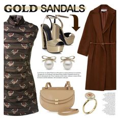"""""""Micro Trend: Solid Gold Sandals"""" by littlehjewelry ❤ liked on Polyvore featuring Gérard Darel, KG Kurt Geiger, Maison Margiela and Chloé"""