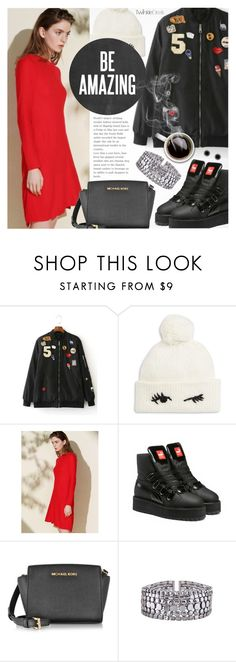 """""""Street Style"""" by pokadoll ❤ liked on Polyvore featuring Kate Spade, Puma, Michael Kors, Marc Jacobs, polyvoreeditorial and polyvoreset"""