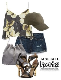 """Top Hat: Baseball Cap Style 1377"" by boxthoughts ❤ liked on Polyvore featuring BLANKNYC, Topshop, Dorfman Pacific, Versace, baseballcap and baseballhats"