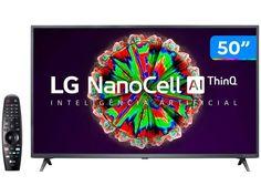 "Smart TV 4K UHD NanoCell 50"" LG 50NANO79SND - Wi-Fi Bluetooth Inteligência Artificial 3 HDMI - Magazine Bicicletascia Wi Fi, Tvs, Apple Tv, Smart Tv 4k, Bluetooth, Tv Led, Smartphone, 4k Uhd, Magazine"