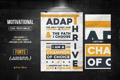 Motivational - Flyer/Poster by VectorMedia on @creativemarket