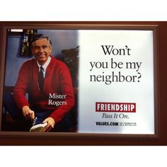 Aww Mister Rogers! I watched this religiously when I was little!