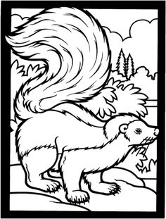 Striped Skunk coloring page from Skunk category. Select from 26278 printable crafts of cartoons, nature, animals, Bible and many more.