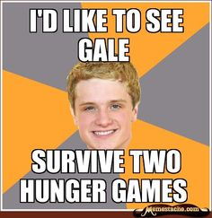 I wonder if Gale would try to save Katniss at his own risk.