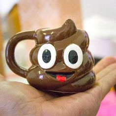 sometimes you need one of these at the breakfast table! or on the breakfast table, the smiley poo mini jug, bring texting to mealtimes. Cool Mugs, Unique Coffee Mugs, Cute Marshmallows, Pink Bottle, Novelty Mugs, Cup Design, Biscuit, Funny Mugs, Ceramic Mugs