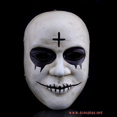 Horror Clown Cross Resin Masks Full Face Halloween Masquerade Costume Cosplay Props The Purge Mask With Box Adult Size Halloween Prop, Halloween Masquerade, Masquerade Costumes, Cheap Halloween, Halloween Fancy Dress, Halloween Costumes, Halloween Makeup, Group Halloween, Halloween 2018