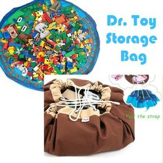 New Toy Storage Bag Toys Cleanup for Lego Blocks Dolls Play Mat for Kids | eBay