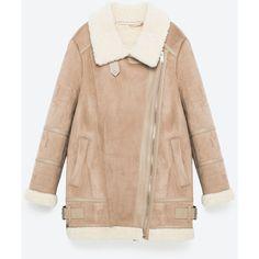 OVERSIZE JAKKE MED FINISH SOM RUSKIND - NY I-DAME | ZARA Danmark (175 AUD) ❤ liked on Polyvore featuring jackets