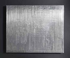 Heinz Mack (b. Klassisches Lichtrelief signed and dated 'mack (on the reverse) aluminium relief on board 100 x 120 cm. Executed in 1959