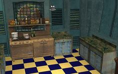 Mod The Sims - Seedy Diner Furnishings The Sims, Sims Cc, Grunge Decor, Sims Games, 2nd City, Rusted Metal, Slums, Urban, Post Apocalyptic