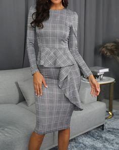 Women's Fashion Vestidos Midi Online Shopping – Chic Me Fashion Mode, Fashion Wear, Curvy Fashion, Fashion Dresses, Work Fashion, Style Fashion, Fashion Stores, Fashion Design, Fashion Trends