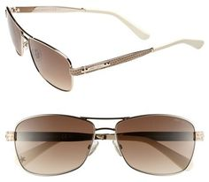 #Jimmy Choo               #Eyewear                  #Jimmy #Choo #'Cris' #57mm #Aviator #Sunglasses #Light #Gold/ #Brown #Size    Jimmy Choo 'Cris' 57mm Aviator Sunglasses Light Gold/ Brown One Size                                    http://www.snaproduct.com/product.aspx?PID=5340625