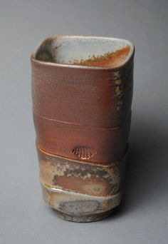 Tumbler Wine Cup Square Wood Fired L15 by JohnMcCoyPottery on Etsy, $28.00 www.etsy.com/shop/JohnMcCoyPottery Please use coupon code SummerVacation to receive 20% off any item in my shop.