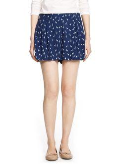 Shorts met zwanenprint