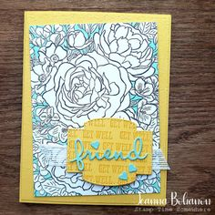 #tgif261 featuring Breathtaking Bouquet and Well Said Stamp Set.  Read tips on creating this card as well as a full supply list on my blog.
