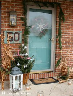 2013 Christmas Home Tour | Hymns and Verses Paint color Benjamin Moore Mill Springs Blue