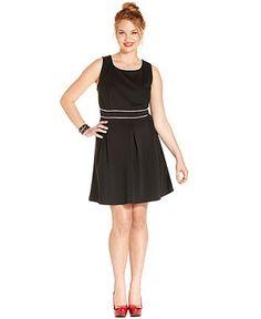Trixxi Plus Size Dress, Sleeveless Pleated A-Line - Plus Size Dresses - Plus Sizes - Macys