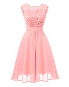 Robe Swing, Swing Dress, Pretty Quinceanera Dresses, Pretty Dresses, Floral Chiffon Dress, Lace Dress, Lace Chiffon, Lace Bodice, Ladies Dress Design
