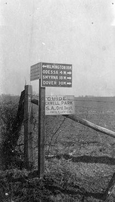 1917 Boyd's Corner road sign.  1540-000-009 #35.  Delaware Public Archives.  www.archives.delaware.gov