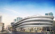 The initial concept design was expected to cost $50 million. (Courtesy Zaha Hadid Architects)