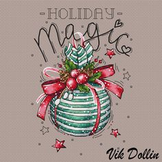 "Cross stitch design ""Holiday Magic"" #sa_stitch #sa_pattern #pattern #crossstitch"