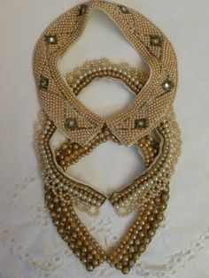 Vintage beaded collars