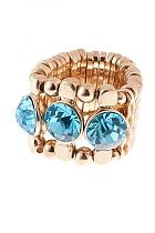 Gold is so in. Love the pop of blue in the stones. Playful Posta Subscribers love this as much as we do!