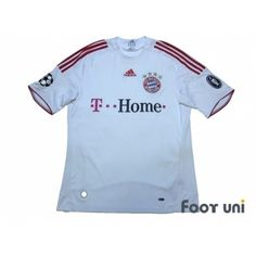 Photo1: Bayern Munich 2008-2009 Away Shirt Champions League Patch/Badge UEFA Champions League Trophy Patch - 4 adidas - Football Shirts,Soccer Jerseys,Vintage Classic Retro - Online Store From Footuni Japan