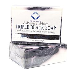 Relumins Professional Spa Formula Triple Action Black White Whitening Soap Maximum Whitening for Normal Sensitive Skin ** Read more at the image link. (This is an affiliate link) Acne Moisturizer, Face Cleanser, Facial Bar, Facial Skin Care, Skin Whitening Soap, Coconut Oil For Acne, Lighten Skin, Black Soap, Healthy Oils
