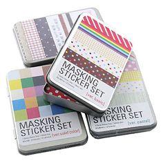 Masking sticker set (aleatorio - 27 piezas) – EUR € 4.77  Link afiliado - Gastos de envío gratis