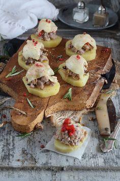 Montadito de patata con butifarra by Mi Gran Diversión: Entrantes Tapas y Pinchos