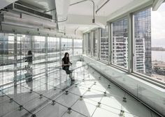 MVRDV creates transparent interior for Hong Kong office block.