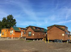 4 of our Lake Fork waterfront cabins, great for group trips to Lake Fork! #Lakefork #tinyhouses