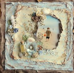 Sea scrapbook layout by Adrienne Ford