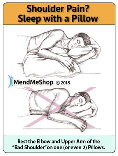 Supporting your arm with pillow during sleep to take pressure off rotator cuff a. - Supporting your arm with pillow during sleep to take pressure off rotator cuff and reduce pain pillow ideas 2020 Neck And Shoulder Exercises, Shoulder Muscles, Shoulder Workout, Rotator Cuff Exercises, Rotator Cuff Tear, Bicep Tendonitis Exercises, Arm Exercises, Shoulder Tendonitis, Shoulder Injuries