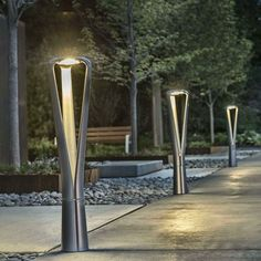 Urban bollard light / contemporary / metal / LED FGP by Francisco Gomez Paz landscapeforms
