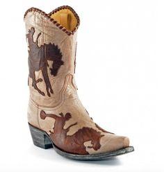 Old Gringo Yippee Ki Yay bronco boots.