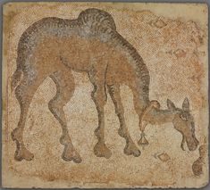 Byzantine, Eastern Mediterranean, probably Syria Mosaic Fragment with Grazing Camel, 4th-5th century A.D. Art Institute Chicago
